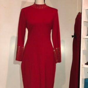 Red Dress with studs